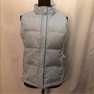GAP Down Puffer Vest, Full Zip, Size M, Light Blue